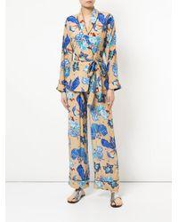 Romance Was Born - Blue Electro Orchid Pyjama Top - Lyst