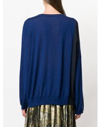 Stella McCartney - Blue Silk-panelled Sweater - Lyst