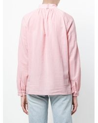 Closed - Pink High Neck Blouse - Lyst