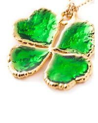 Aurelie Bidermann - Green Mini 'clover' Necklace - Lyst