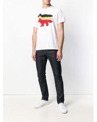Maison Kitsuné - Multicolor Tricolour Fox Print T-shirt for Men - Lyst
