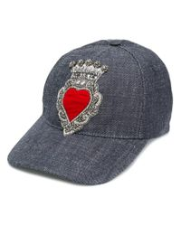 Dolce & Gabbana - Blue Embroidered Hat for Men - Lyst