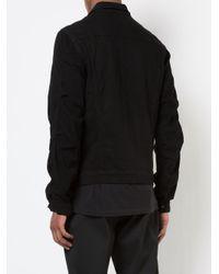 RTA - Black Button-up Denim Jacket for Men - Lyst