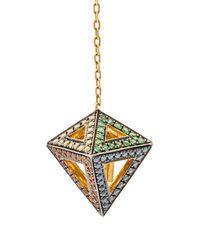 Noor Fares - Metallic Orecchini 'octahedron' - Lyst