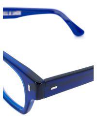 Cutler & Gross - Blue Chunky Eyeglasses - Lyst