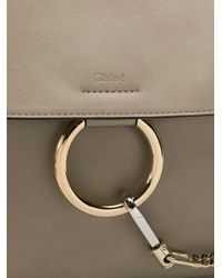Chloé Gray Faye Day Suede Shoulder Bag