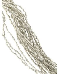 Fabiana Filippi - Metallic Multi Strand Necklace - Lyst