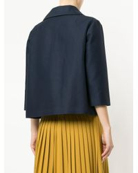 Marni - Blue Sheen Single Breasted Blazer - Lyst