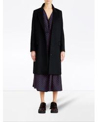 Burberry - Black Tailored Coat - Lyst