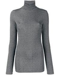 Dondup - Gray Long Turtleneck Sweater - Lyst