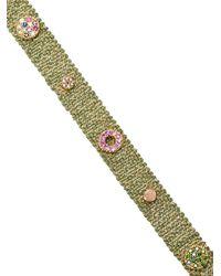 Carolina Bucci - Metallic Woven Melange Bracelet - Lyst