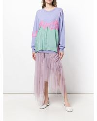 Preen By Thornton Bregazzi - Purple Colour-block Fitted Sweater - Lyst