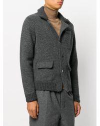 Zanone - Gray Cardigan Stile Blazer for Men - Lyst