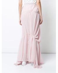 Osklen - Pink Gathered Long Skirt - Lyst
