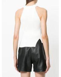 DIESEL - White Knitted Halterneck Top - Lyst