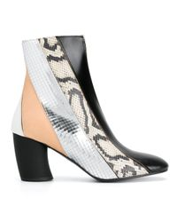 Proenza Schouler - Black Striped Patterned Ankle Boots - Lyst