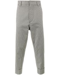 Haider Ackermann | Black Rothko Ivory Cuff Detail Trousers for Men | Lyst