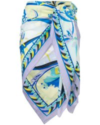 Emilio Pucci - Blue Printed Pareo - Lyst
