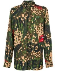 Vivienne Westwood - Green Camouflage Print Shirt for Men - Lyst