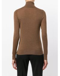 N.Peal Cashmere - Brown Superfine Roll Neck Jumper - Lyst