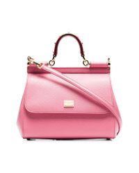 8ff91c1b3e Dolce   Gabbana. Women s Pink Leather Sicily Medium Leather Shoulder Bag