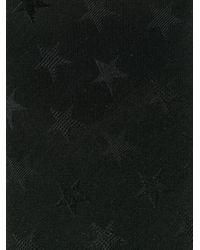 Valentino - Black Star Motif Tie for Men - Lyst