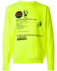 McQ Alexander McQueen - Yellow Graphic Print Sweatshirt for Men - Lyst