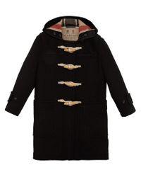 Burberry - Black Greenwich Duffle Coat - Lyst