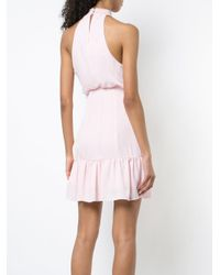 Likely - Pink Ruched Neck Halter Dress - Lyst