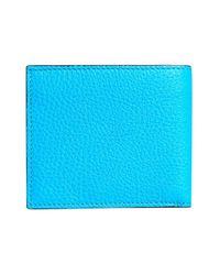Burberry - Blue Logo Embossed International Bifold Wallet for Men - Lyst