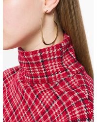 Faris - Metallic Vero Hoops Earrings - Lyst