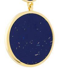 Eshvi - Blue Circular Drop Earrings - Lyst