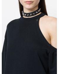 Manokhi - Black Spike Choker Necklace - Lyst