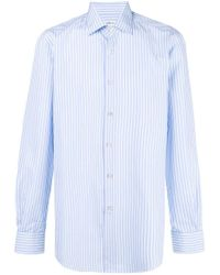 Kiton - Blue Plaid Button Shirt for Men - Lyst