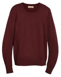 Burberry - Red Ribbed Detail Sweater for Men - Lyst