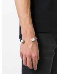 Alexander McQueen | Black Twin Skull Talon Bracelet for Men | Lyst