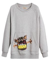 Burberry - Gray Creature Motif Sweatshirt for Men - Lyst