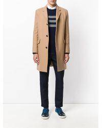 Eleventy - Blue Cashmere 3 Bars Sweater for Men - Lyst