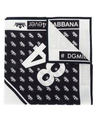 Dolce & Gabbana - Black Bandana Scarf for Men - Lyst
