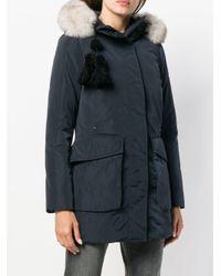 Peuterey - Blue Fox Fur Trimmed Parka - Lyst