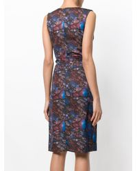 Murmur Brown Print Wrap Shift Dress