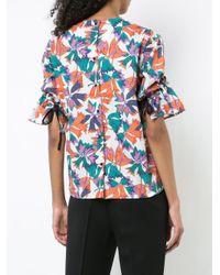 Lareida - Multicolor Graphic Print Flared Sleeve Top - Lyst