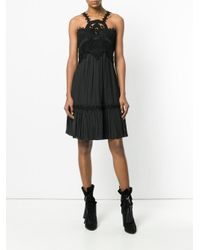 Chloé - Black Flared Embroidered Dress - Lyst