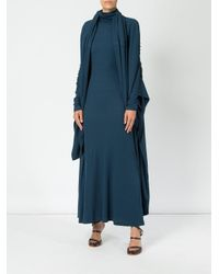Y. Project - Blue Wrapped Neck Dress - Lyst