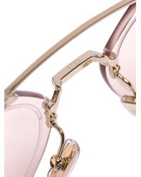 Dior - Metallic Gold Tone And Pink Chroma 3 Sunglasses for Men - Lyst