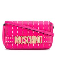 Moschino | Pink Studded Letters Crossbody Bag | Lyst