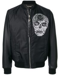Philipp Plein Black Tuesday Bomber Jacket for men