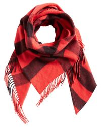 Burberry - Red Bandana Check Scarf - Lyst