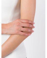 Diane Kordas - Metallic Diamond Rectangle Outline Ring - Lyst