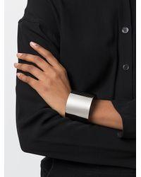 MM6 by Maison Martin Margiela - Metallic Wide Cuff Bracelet - Lyst